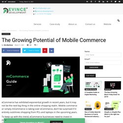 The Growing Potential of Mobile Commerce