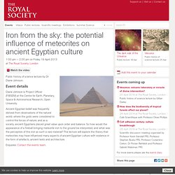 Iron from the sky: the potential influence of meteorites on ancient Egyptian culture