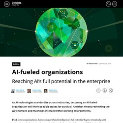 Driving AI's potential in organizations