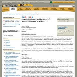 UNIVERSITY OF MISSOURI - JUIN 2012 - Potential Diseases and Parasites of White-tailed Deer in Missouri