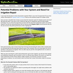 Potential Problems with Your System and Need For Irrigation Repair