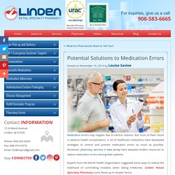 Potential Solutions to Medication Errors