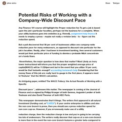 Potential Risks of Working with a Company-Wide Discount Pace