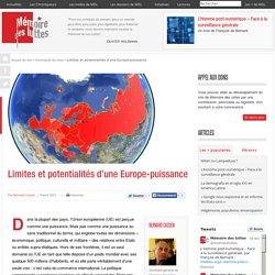 Limites et potentialités d'une Europe-puissance