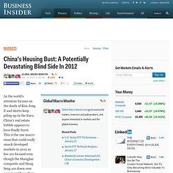 China's Housing Bust: A Potentially Devastating Blind Side In 2012