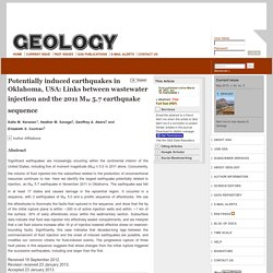 Potentially induced earthquakes in Oklahoma, USA: Links between wastewater injection and the 2011 Mw 5.7 earthquake sequence