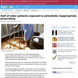 Half of older patients exposed to potentially inappropriate prescribing