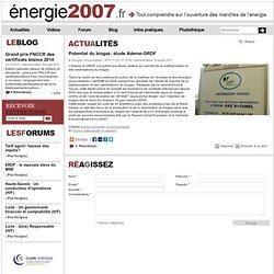 Potentiel du biogaz: étude Ademe-GRDF
