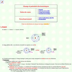 Champ et potentiel électrostatiques