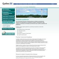 Potentiel québécois – Hydrocarbures.gouv.qc.ca