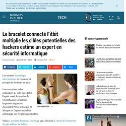 Le bracelet connecté Fitbit multiplie les cibles potentielles des hackers estime un expert en sécurité informatique - Business Insider France