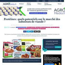 Protéines: quels potentiels sur le marché des substituts de viande?