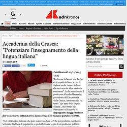 """Accademia della Crusca: """"Potenziare l'insegnamento della lingua italiana"""""""