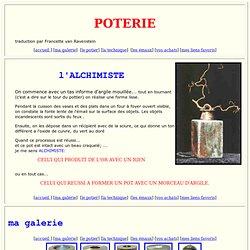 poterie Raku: l'alchimiste