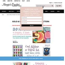Gold & White Potholder Free Pattern – Maggie's Crochet