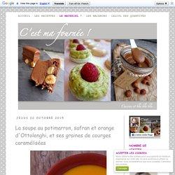 La soupe au potimarron, safran et orange d'Ottolenghi, et ses graines de courges caramélisées