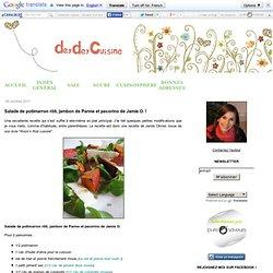 Salade de potimarron rôti, jambon de Parme et pecorino de Jamie O. !