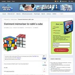 Comment mémoriser le rubik's cube