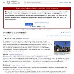 Potlatch (anthropologie)