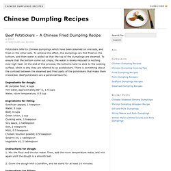 Beef Potstickers – A Chinese Fried Dumpling Recipe