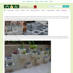 Potted's DIY Cinderblock Wall | Potted