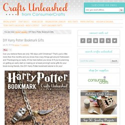 DIY Harry Potter Bookmark Gift Idea