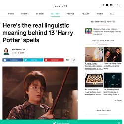 'Harry Potter': The Latin roots and meanings of spells - INSIDER