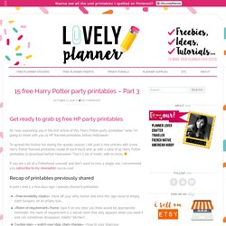 15 free Harry Potter party printables - Part 3 - Lovely Planner