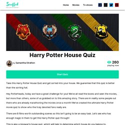 Harry Potter House Quiz - Scuffed Entertainment