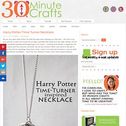 Harry Potter Time Turner Necklace - 30 Minute Crafts