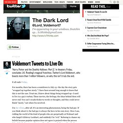 'Harry Potter' Twitter Meme Lord Voldemort Tweets to Live On