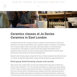Pottery Classes and Courses — Jo Davies Ceramics