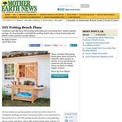 DIY Potting Bench Plans