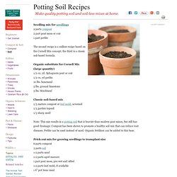 Potting Soil Recipes