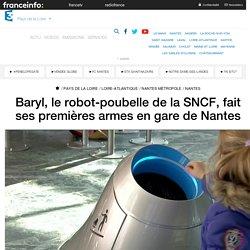 Baryl, le robot-poubelle de la SNCF, fait ses premières armes en gare de Nantes - France 3 Pays de la Loire
