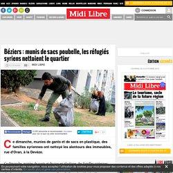 Béziers : munis de sacs poubelle, les réfugiés syriens nettoient le quartier