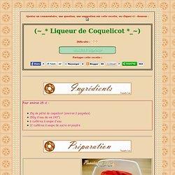 [ Poucinette cook ] - Liqueur de Coquelicot