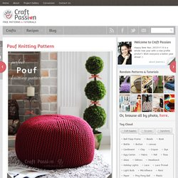 How to knit pouf