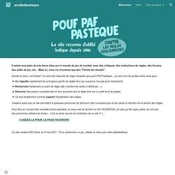 Pouf Paf Pastèque : 550 fiches de règles à imprimer