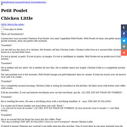 Petit Poulet - Chicken Little in French (with audio)