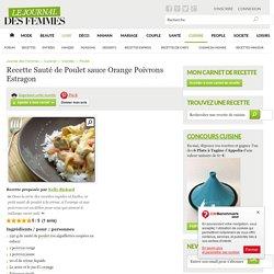 Sauté de Poulet sauce Orange Poivrons Estragon