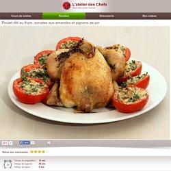Poulet rôti, tomates à la provençale