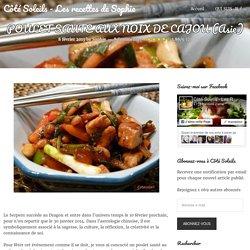 POULET SAUTE AUX NOIX DE CAJOU (Asie) - Côté Soleils - Les recettes de Sophie
