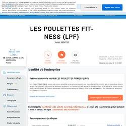 LES POULETTES FITNESS (LYON 3EME) Chiffre d'affaires, résultat, bilans sur SOCIETE.COM - 830967105