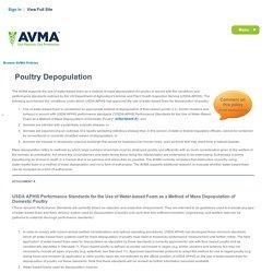 AVMA - Poultry Depopulation.
