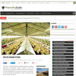 Poultry Housing Systems,Types of poultry house