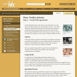 – Poultry industry