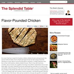 Flavor-Pounded Chicken