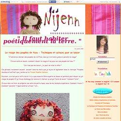 Le visage des poupées de tissu - Techniques et astuces pour se lancer - Nijenn