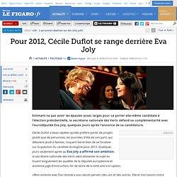 Politique : Pour 2012, Cécile Duflot se range derrière Eva Joly